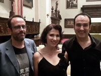 after the concert Brescia Chitarra Festival with Alfredo Franco and Giulio Tampalini. World premiere of Franco's Sette Tamerici for Sopran and guitar.