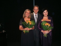 after the recital in Bologna with Dariusz Kmiotek and Beatrice Santini