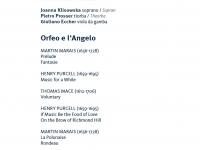 Artsemble Merano 2012 -  Orfeo e l'Angelo Merano IT