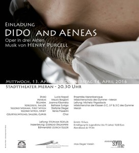 Dido and Aeneas poster